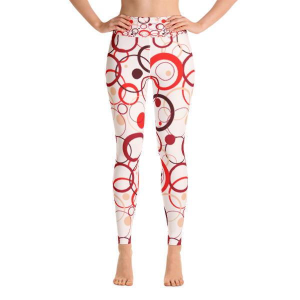 Yoga Leggings Red Circles