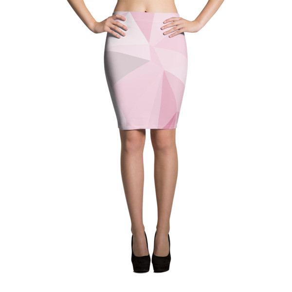 Pencil Skirt Pink Polygon