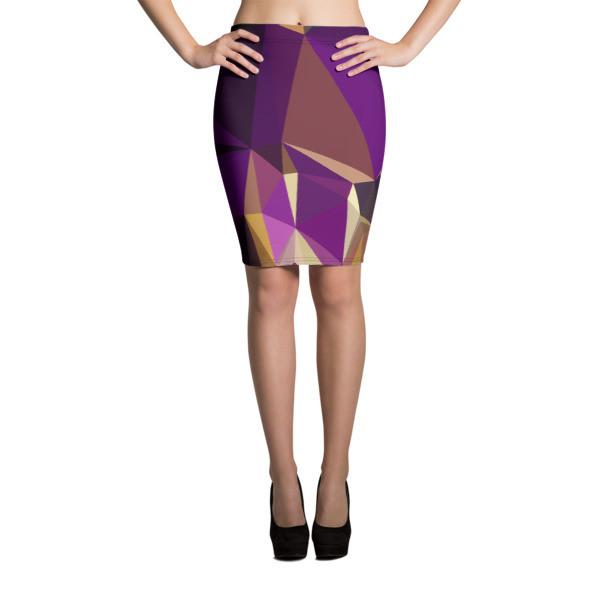 Pencil Skirt Purple Polygon