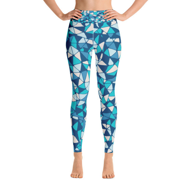 Yoga Leggings Blue Mosaic