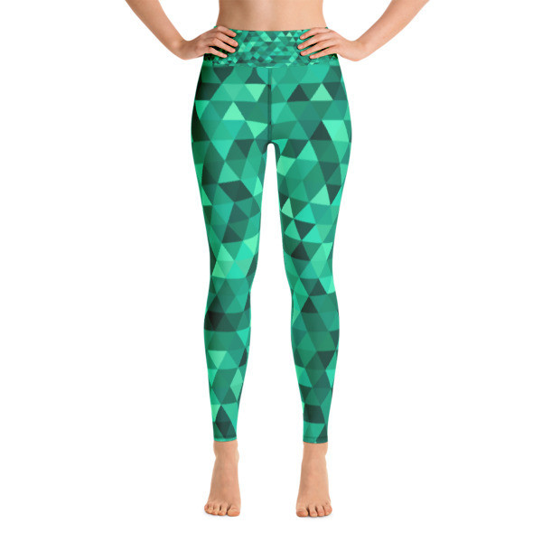 Yoga Leggings Green Mosaic