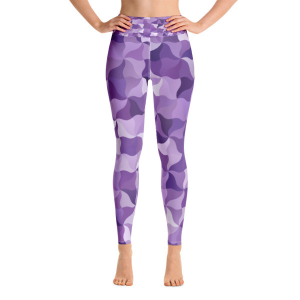 Yoga Leggings Purple Mosaic
