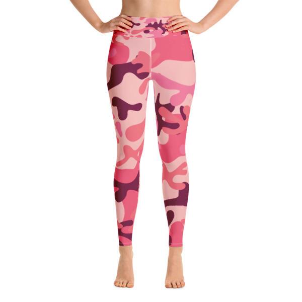 Yoga Leggings Pink Camouflage