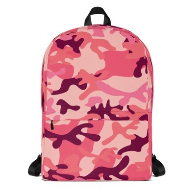 Backpack Pink Camouflage
