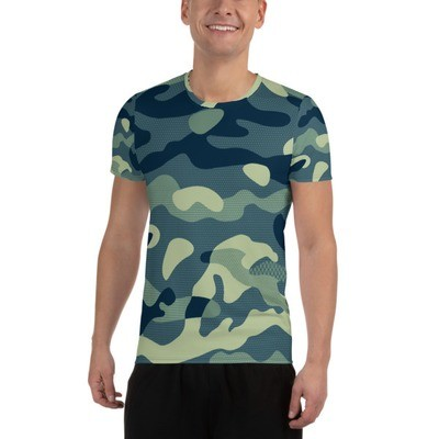 Men's Athletic T-shirt Green Camouflage