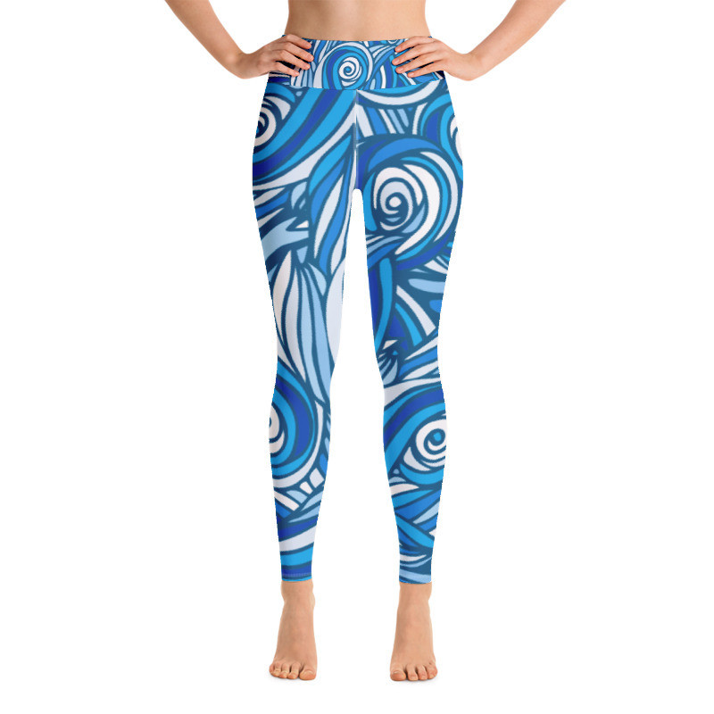 Yoga Leggings Waves