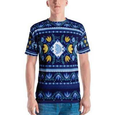 Men's T-shirt Knitted Ornaments