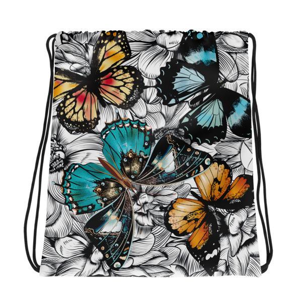 Drawstring Bag Butterflies