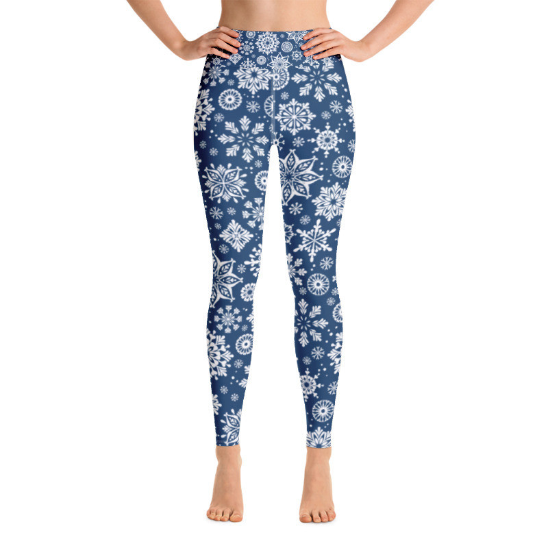 Yoga Leggings Snowflakes