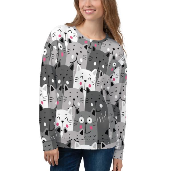 Women's Sweatshirt Cats