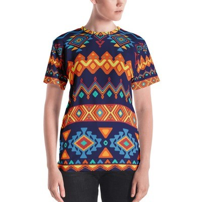 Women's Crew Neck T-Shirt Ethnic