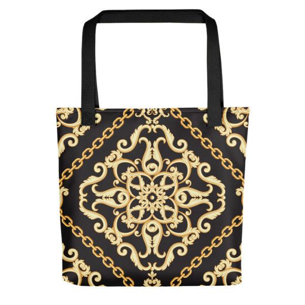 Tote Bag Gold Ornaments