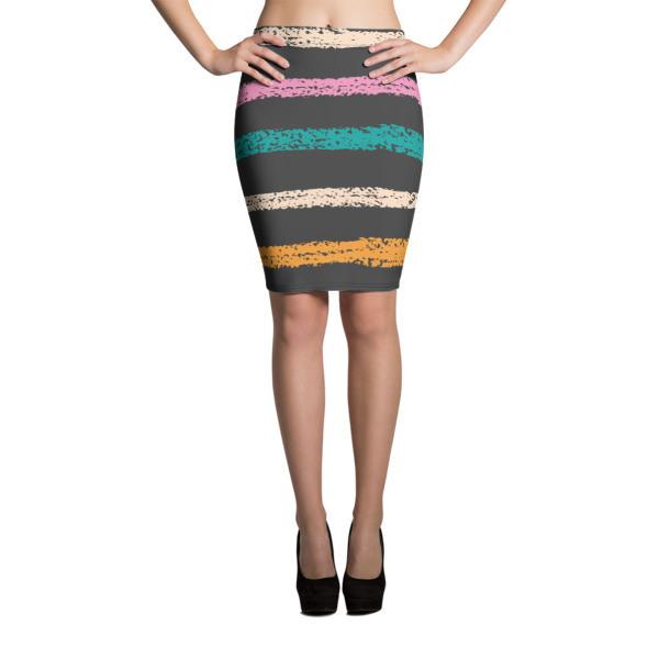 Pencil Skirt Stripes