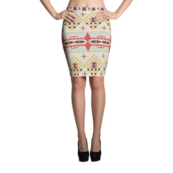 Pencil Skirt Ethnic