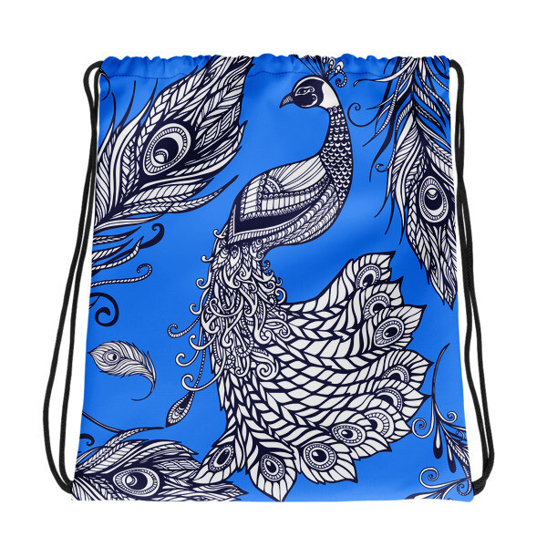 Drawstring Bag Peacock