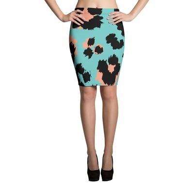Pencil Skirt Animal Print