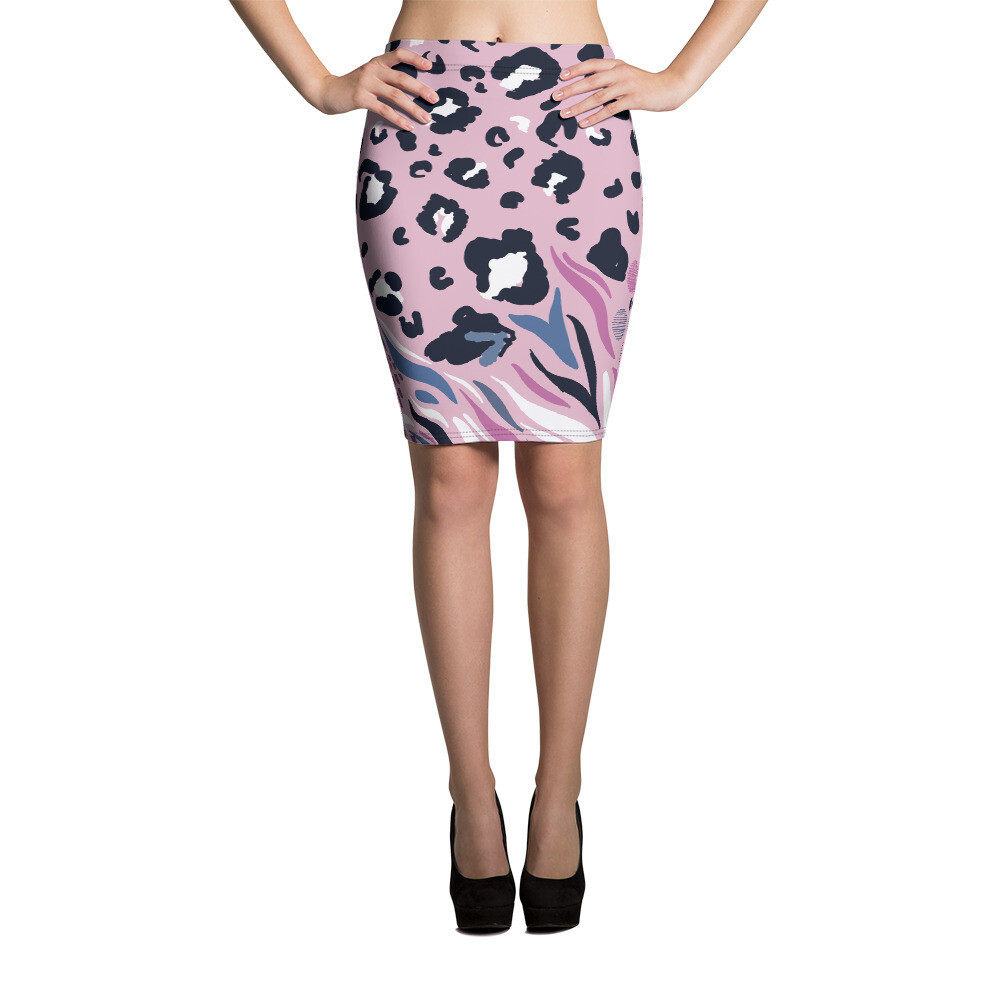 Pencil Skirt Animal Print
