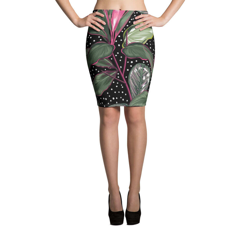 Pencil Skirt Floral