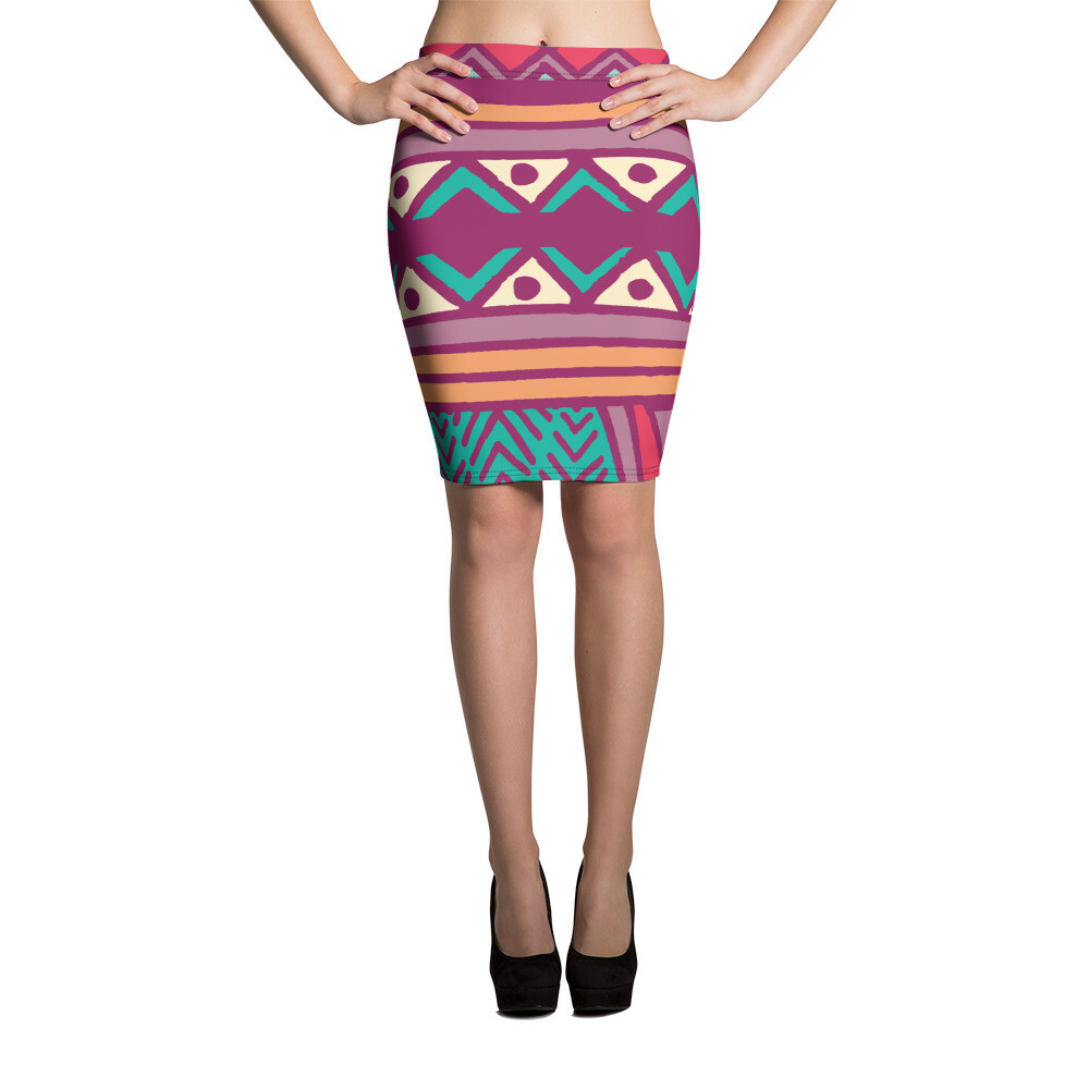Pencil Skirt Ethnic