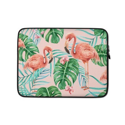 Laptop Sleeve Flamingos