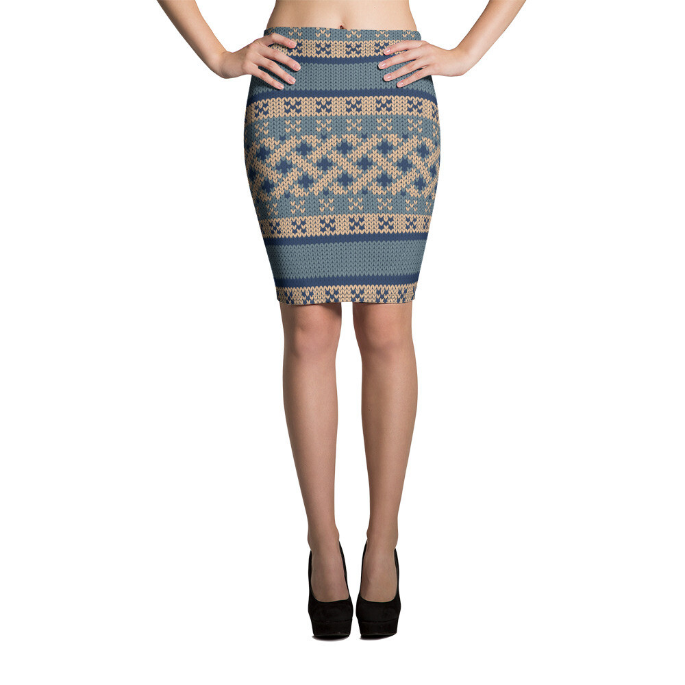 Pencil Skirt Knitted