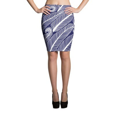 Pencil Skirt Feathers