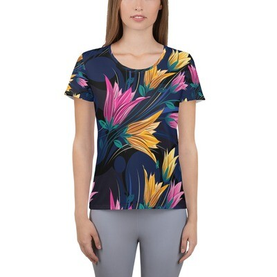 Athletic T-shirt Floral