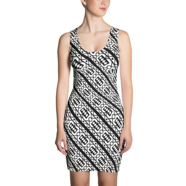 Women's Dress Samacaca B/W