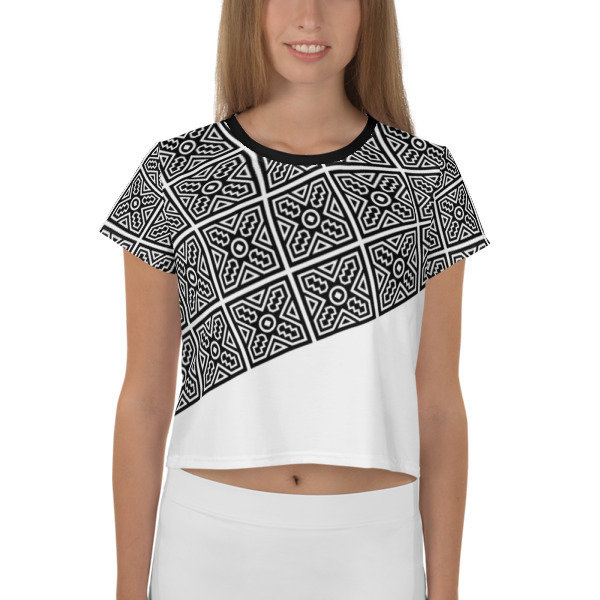 Crop Top B/W Ethnic