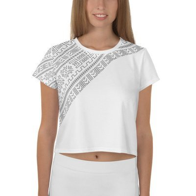 Crop Top White Ethnic