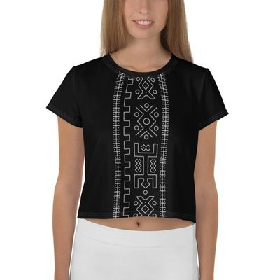 Crop Top Black Ethnic