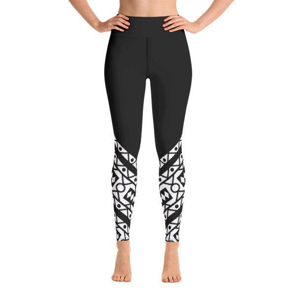 Yoga Leggings B/W Samacaca