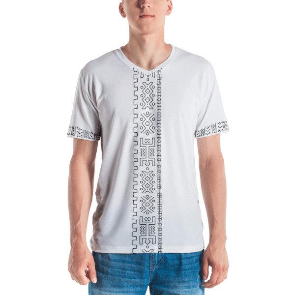 Men's T-shirt V-Neck Ethnic