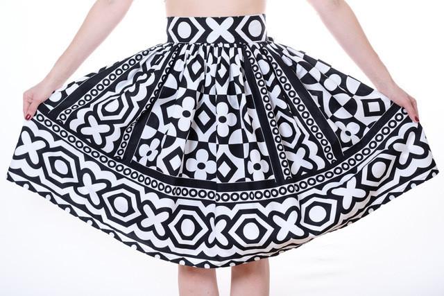 Handmade Samacaca Skirt B/W
