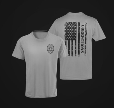 """Corrections Distressed Flag """"Patch"""" Tee"""
