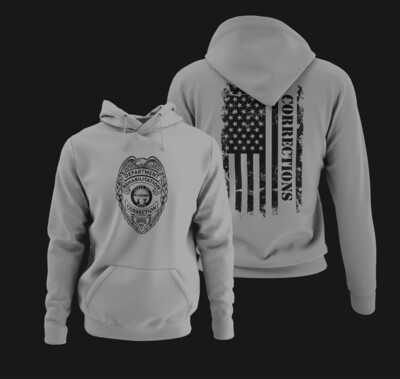 Corrections Full Front Badge Hoodie