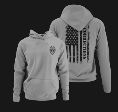 """Corrections Distressed Flag """"Patch"""" Hoodie"""