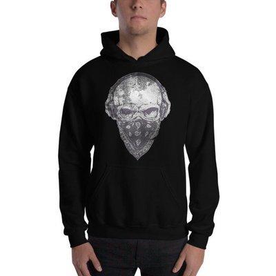 Rockin' Skull Hooded Sweatshirt