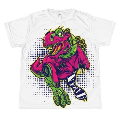 T-Rex Robot All-over youth sublimation T-shirt
