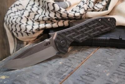 "Zero Tolerance 0620CF Emerson 3.6"" Tanto Knife / Carbon Fiber / Titanium /  Satin (Pre-Owned)"