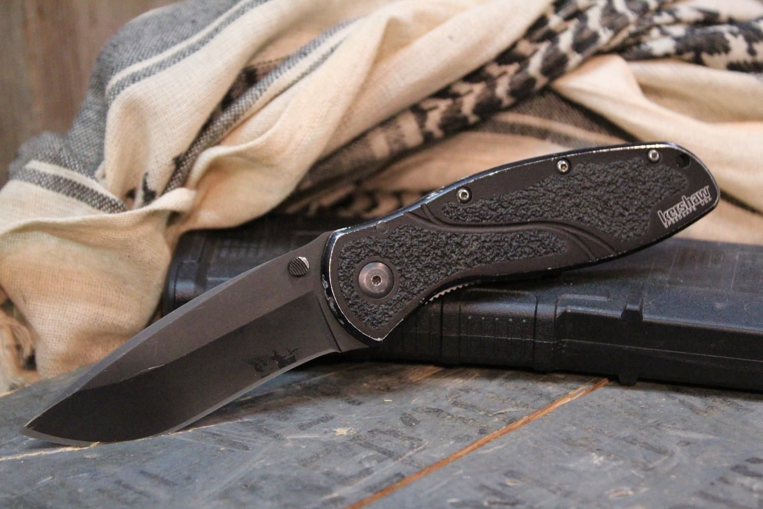 """Kershaw Blur 3.375"""" Assisted Opening Tactical, Black / Black ( Pre Owned )"""