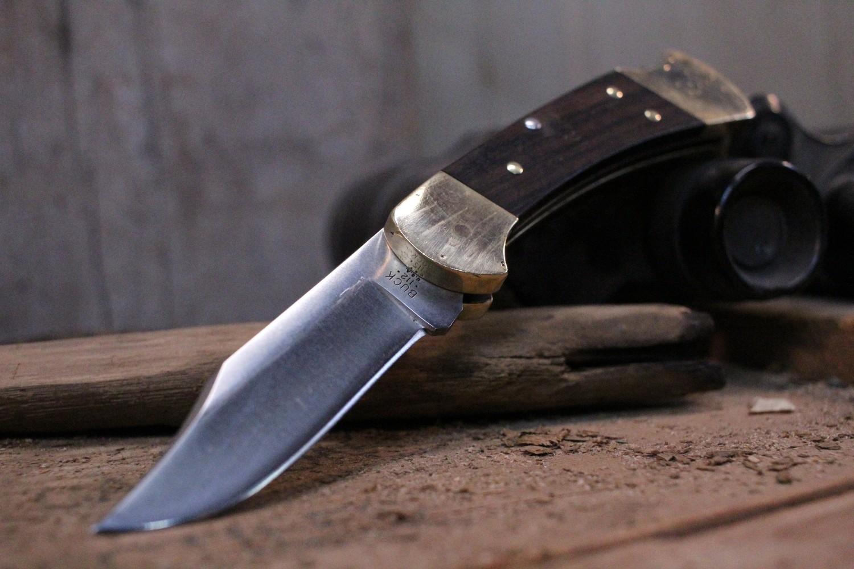 "Buck 112 Ranger 3"" Manual Lockback Knife, Rosewood & Brass /  Satin 420HC ( Pre Owned )"