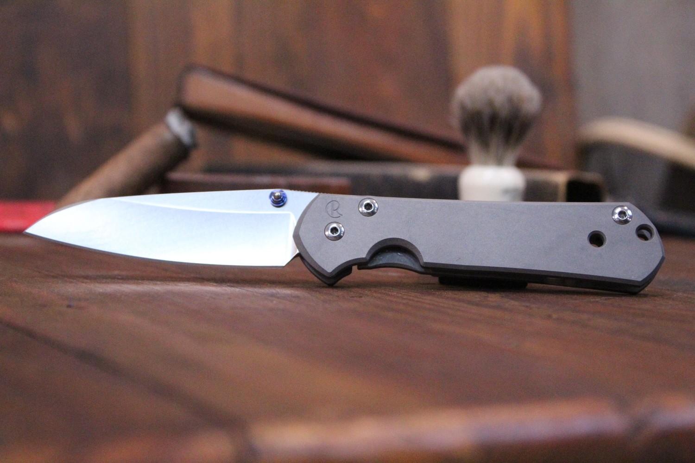 "Chris Reeve Small Sebenza 21 Insingo 2.94"" Folding Knife, Stonewashed S35VN / Titanium (Pre Owned)"