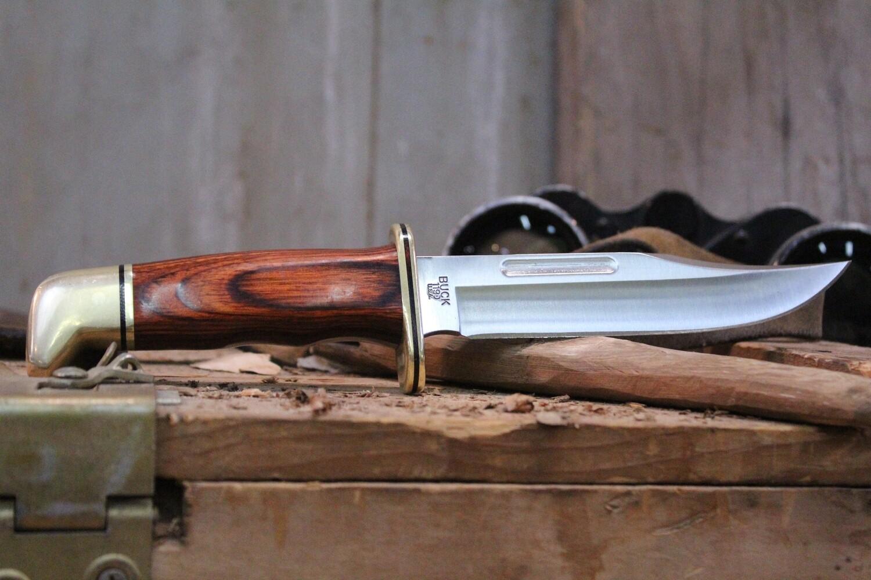 "Buck 119 6"" Fixed Blade Knife, Black Phenolic / Satin ( Pre Owned )"