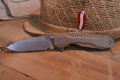 "Benchmade Proxy 3.87"" Framelock Knife / Sand G10 / Titanium / Satin (Prototype)"