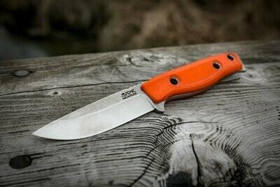 "3DK MAK 4"" Fixed Drop Point, Elmax Blade / Orange G10 handle"