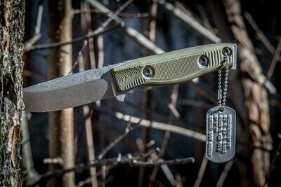 "3DK MAK 4"" Fixed Drop Point, K110 Blade / OD Green G10 handle"
