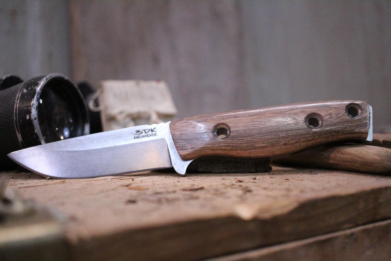 """3DK MAK 4"""" Fixed Drop Point, Elmax Blade / Mora Wood Handle"""