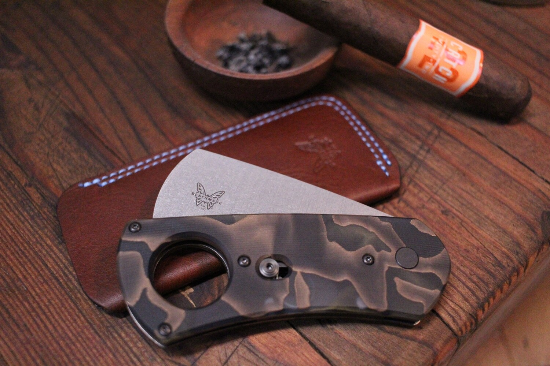 Benchmade Cigar Cutter Gold Class Auto AXIS / Raffir Noble / Stonewash