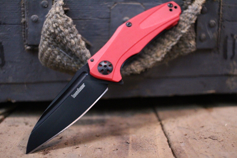 """Kershaw Natrix XS 2.75"""" Flipper Knife, Red G10 / Black"""